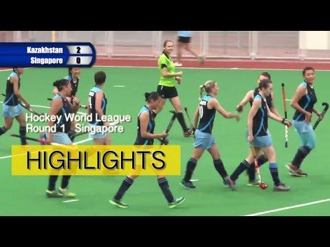 Kazakhstan v Singapore highlights | 2016 Women's Hockey World League Round 1