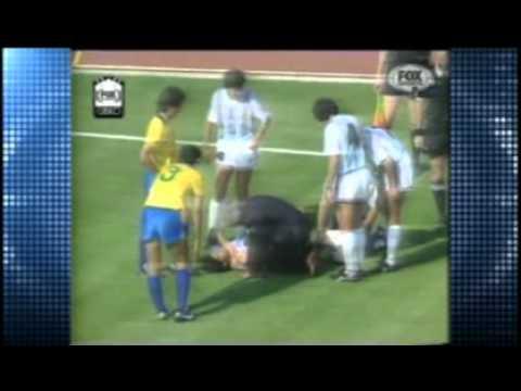 ARGENTINA 1 BRASIL 0 PARTIDO COMPLETO  MUNDIAL ITALIA 1990