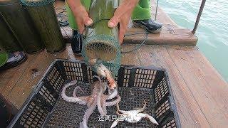 泰叔突发奇想,在深海里放十个竹筒,第二天竹筒里全是海货