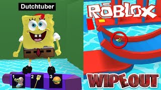 WIPEOUT IN ROBLOX! (Roblox Obby)