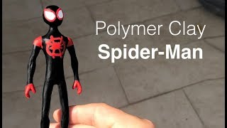 SPIDERMAN Into the Spiderverse Miles Morales - Polymer Clay Tutorial