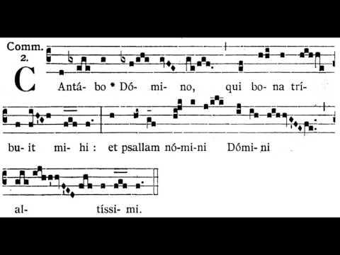 Gregorian Chant - Cantabo Domino