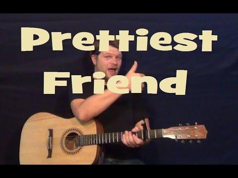 Prettiest Friend (Jason Mraz) Easy Guitar Lesson Strum Fingerstyle How to Play Tutorial