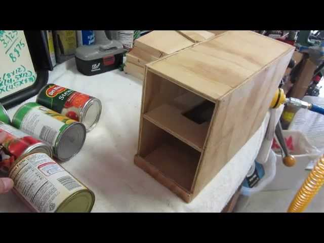 Emergency food storage box