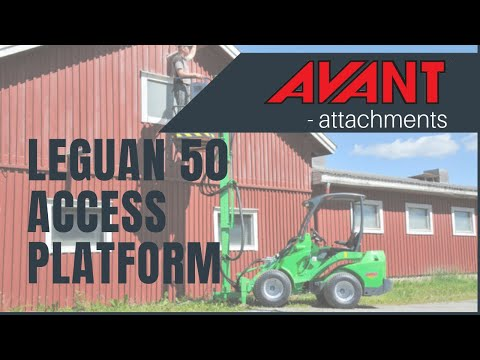 Leguan 50 Access platform for Avant loader, Avant 300-700 Series attachment