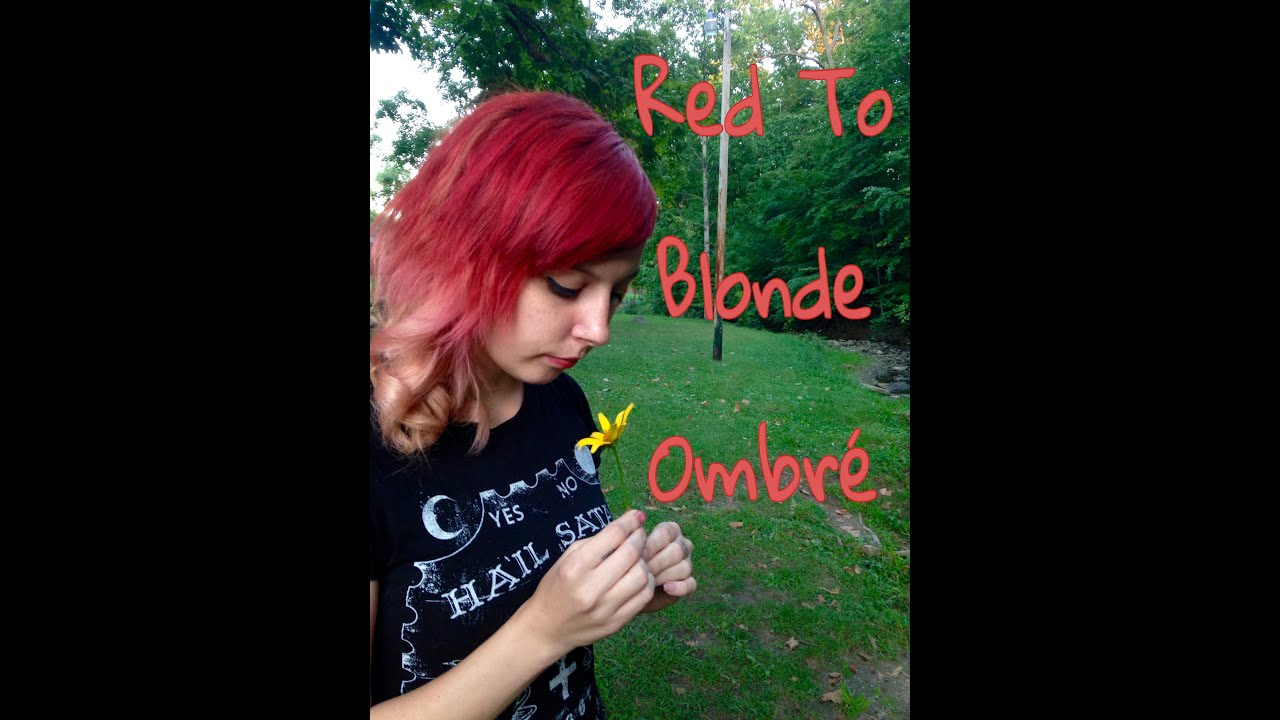 Red To Blonde Ombre Tutorial Lady Ursa Youtube