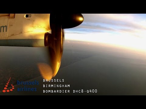 Timelapse Flight: Brussels to Birmingham (Flybe DHC-8)