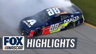 FINAL LAPS: Alex Bowman's first career victory after battle with Larson | NASCAR on FOX HIGHLIGHTS
