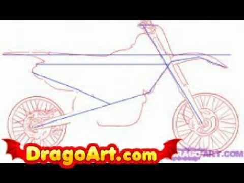 how to draw a stick bike