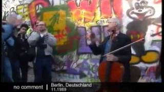 Rostropovich Berlin Wall Checkpoint Charlie Bach Sarabande