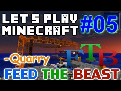 Let's Play Minecraft FTB Ep #5 - Quarry