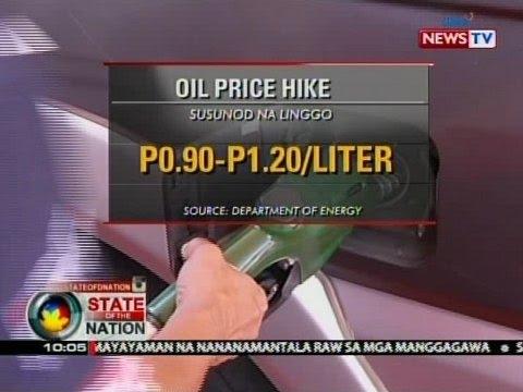 SONA: Oil price adjustment