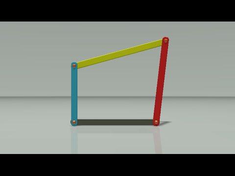 How Four bar linkage Mechanism Work! | Best 3D Animation |