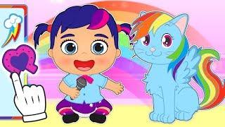 BABY PETS 🌈 Kira y Max se disfrazan de My Little Pony | Videos educativos para niños