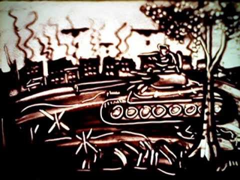День победы рисунки песком