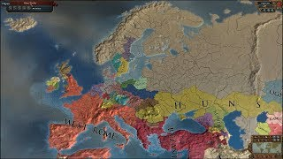 Europa Universalis 4 AI Timelapse - Extended Timeline + Countries Can Collapse [2.0] Mods 395-3500