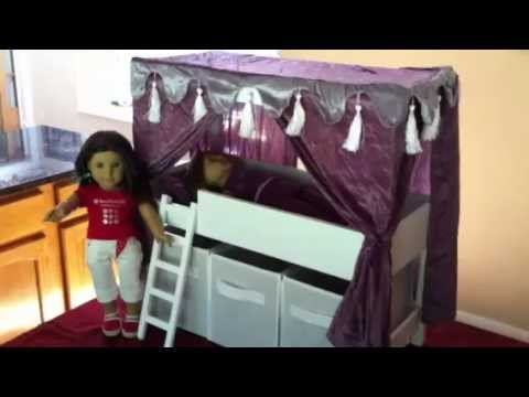 Review of Loft Bed with Storage that fits 18-inch American Girl Dolls