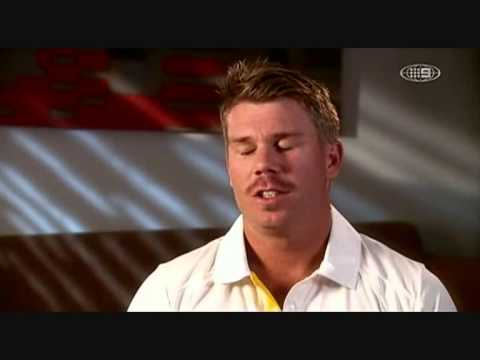 David WARNER Interview  Cricket show 2012