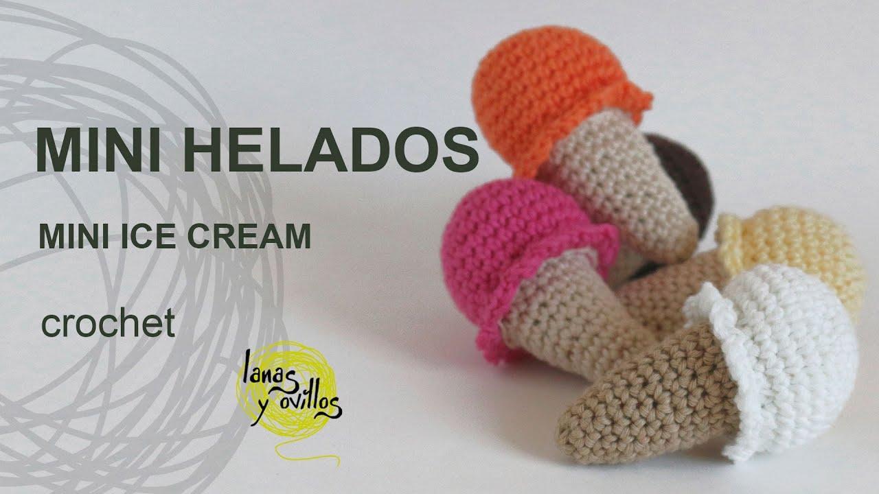 Mini Ice Cream Amigurumi : Tutorial Mini Helado Amigurumi Mini Ice Cream - YouTube