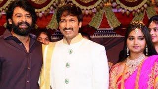 Gopichand Reshma Wedding Reception Video - 02