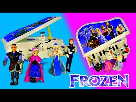 FROZEN Musical Light Up Piano Disney Dolls Elsa Kristoff Olaf...