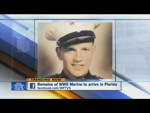 Remains of WWII Marine to arrive in Florida