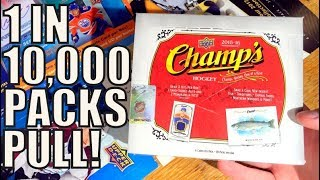 CRAZY RARE PULL! 15/16 Upper Deck Champs Hockey Hobby Box Break | 3 Hits