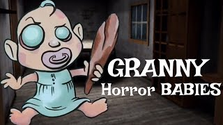 GRANNY & SLENDRINA Horror Game Characters BABY Version