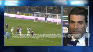 Intervista a Buffone tutte le  Parate Genoa 0-1 Juventus 16/03/2014 HD  (VIDEO)