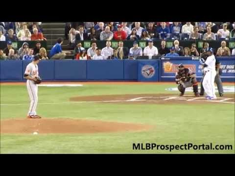 Kevin Gausman's first Major League strikeout - MLB debut - Orioles @ Blue Jays