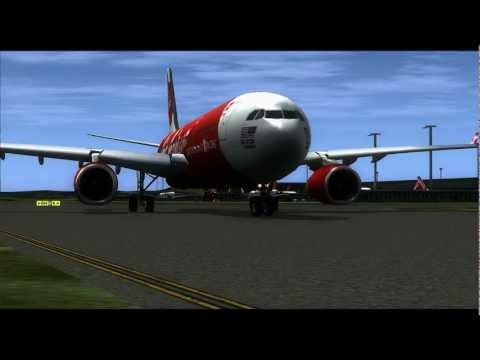 FSX HD FLYING HOME FOR CHRISTMAS KUALA LUMPUR (WMKK) TO MELBOURNE (YMML) WITH AIR ASIA X!