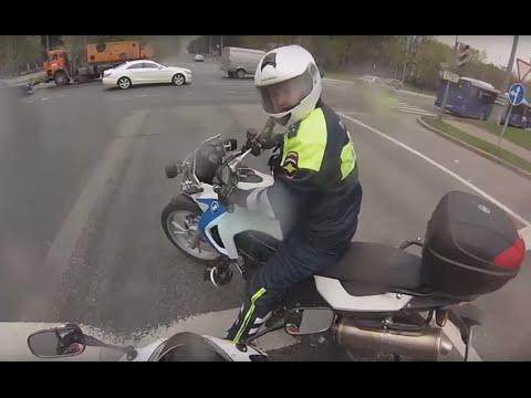 Неожиданно. Мотобат Cops Moscow ДПС погоня, Москва.
