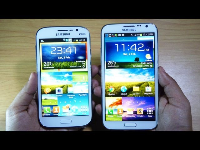 Samsung GALAXY GRAND DUOS vs GALAXY NOTE 2 - Review by Gadgets Portal