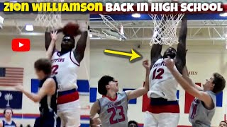 Zion Williamson BEST Dunks & Moments From High School! New Orleans Pelicans #1 Draft Pick