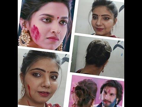 Deepika Padukone Hair Tutorial-Ramleela inspired looklahu munh...