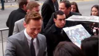 Tom Hiddleston gets a mysterious gift from fans at Marvel