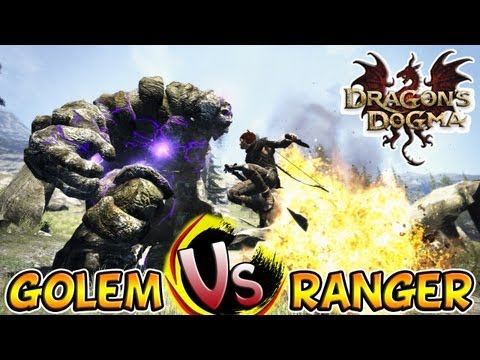 Dragon's Dogma - Monta Ranger Vs Golem