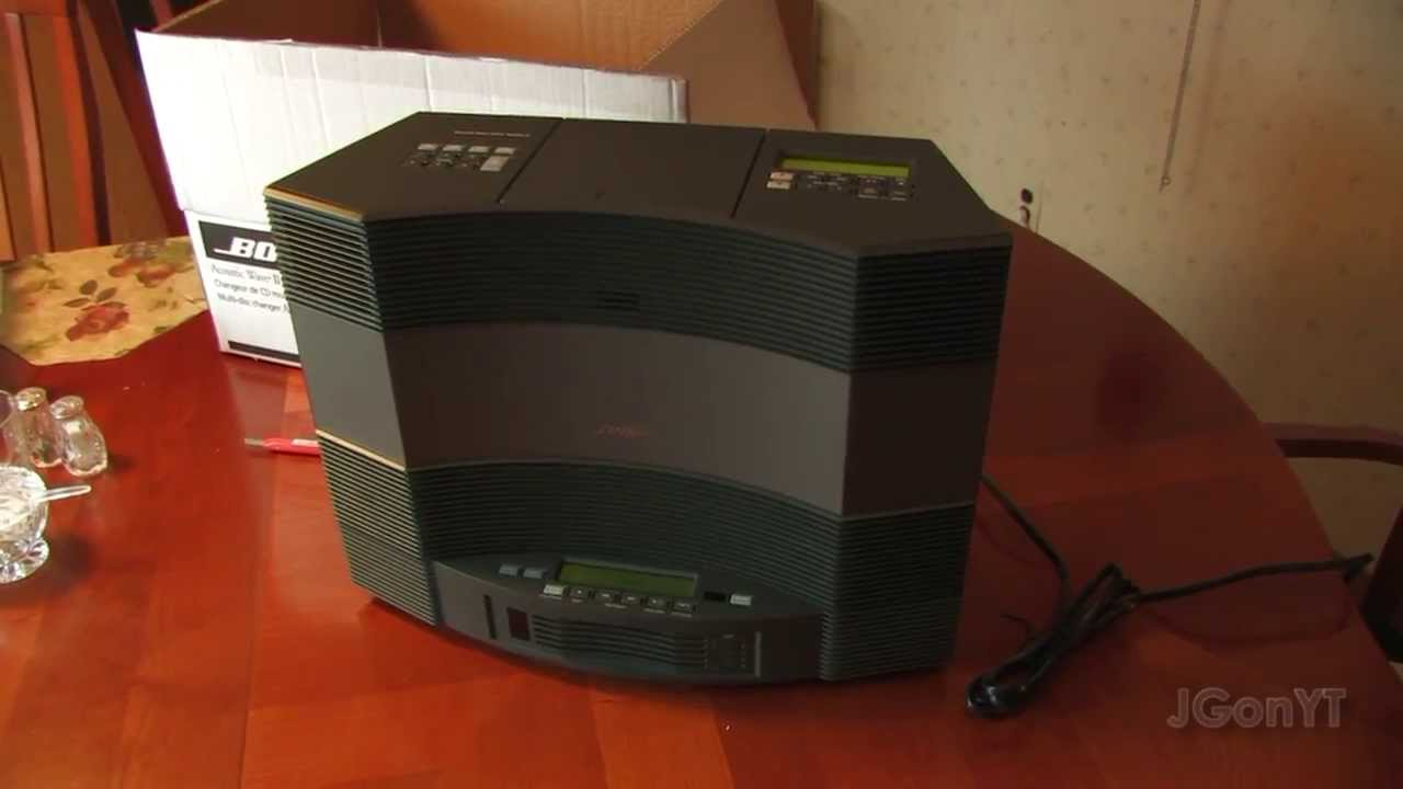 Bose Acoustic Wave Music System Ii And Cd Changer Setup