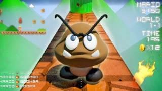 Como se vería el juego de Mario Bros en primera persona