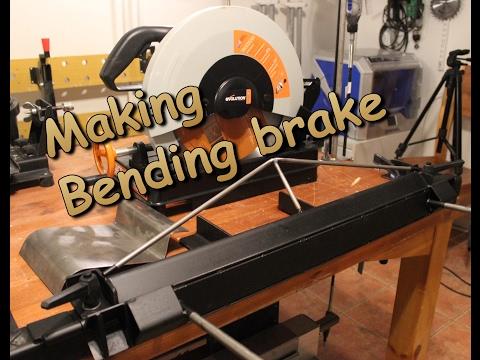 Metal working: Sheet metal bending brake.  Part 1 / 2
