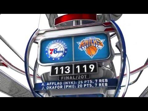 Philadelphia 76ers vs New York Knicks - January 18, 2016