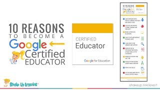 10 Reasons to Become a Google Certified Educator Level 1 and Level 2 (Video 1)