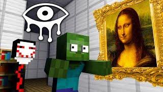 Monster School | EYES OF HORROR GAME CHALLENGE - Minecraft Animation