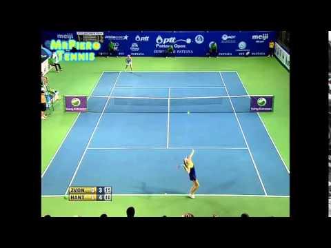 Daniela Hantuchova vs Vera Zvonareva Pattaya 2015 Highlights