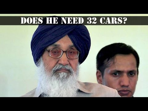 Parkash Singh Badal's fuel- inflated convoy
