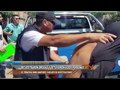 Realizaban un allanamiento por Amenazas Calificadas y se encontraron con droga