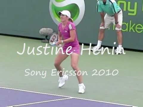 Justine Henin Slow motion Forehand and Backhand