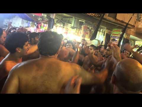 QBH CHEHLUM 2014  IRAQ NAJAF /KARBALA 14 SAFFAR SAJJAD swt BAZARAN VICH PART1