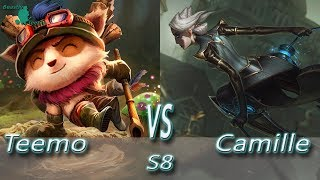 League of Legends - Teemo vs Camille - S8 Ranked Gameplay (Season 8)