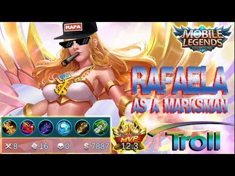 Mobile Legends - Rafaela As A Marksman Gameplay | Troll Build Full AD [MVP]